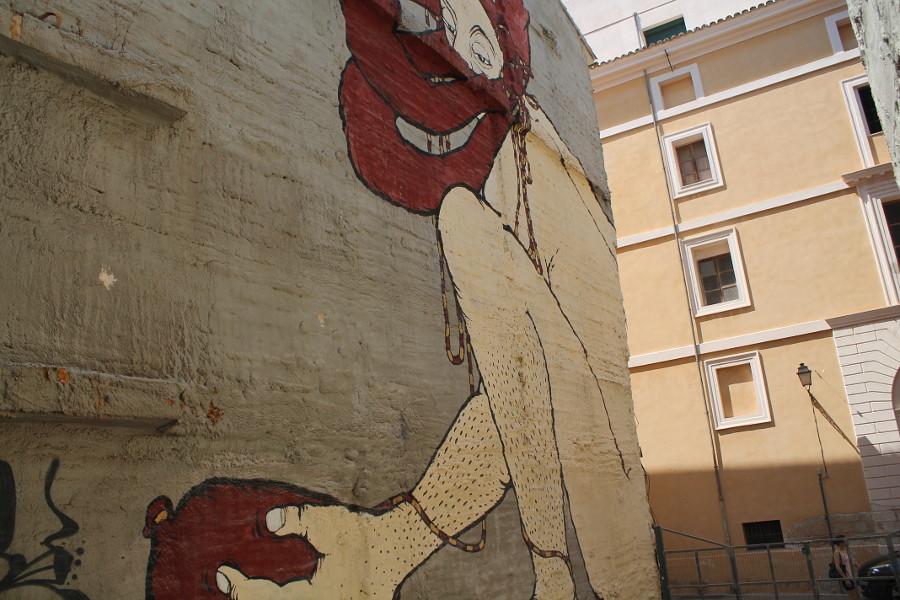 Kunst und Kultur nah beieinander- Streetart nahe dem Xesc-Forteza-Theaters