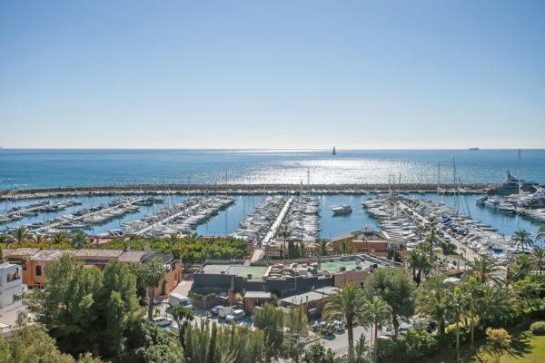 Blick über den Hafen von Portals Nous