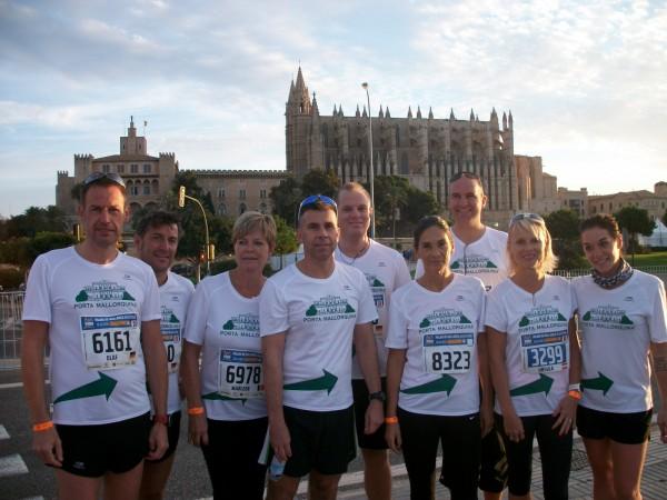Das Porta Mallorquina Team beim Palma Marathon 2015