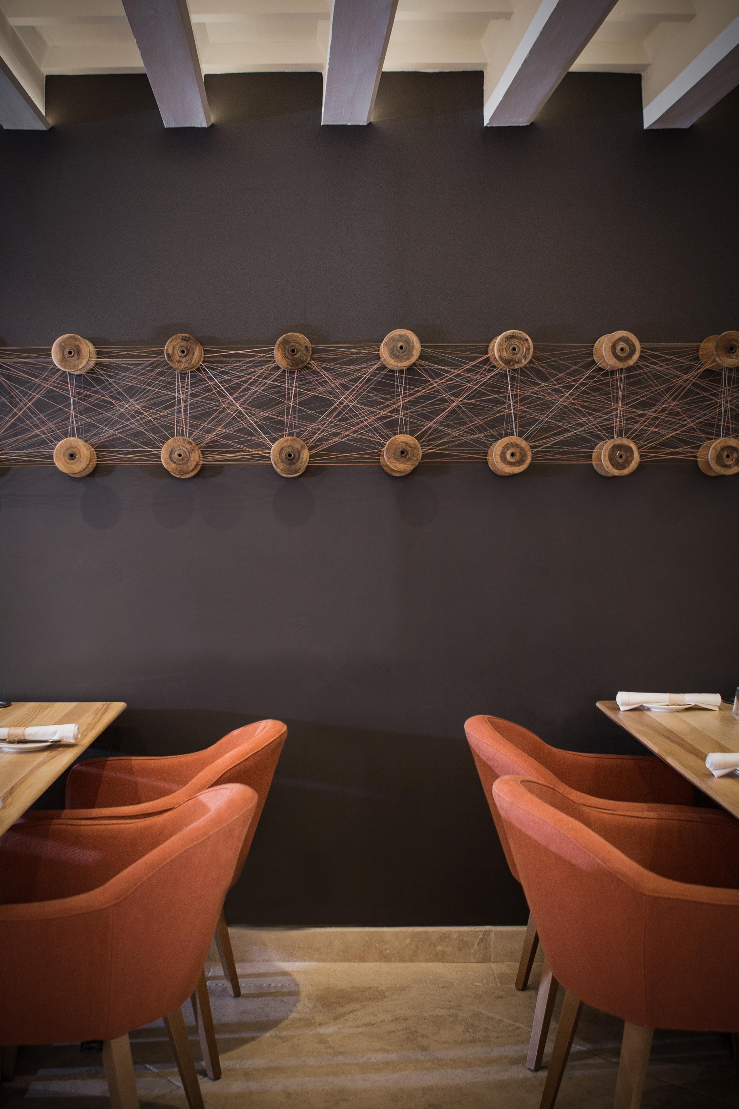 Toni Garaus Kunstwerk im Restaurant Fera
