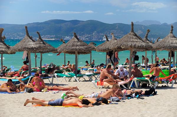 Strand von Arenal auf Mallorca