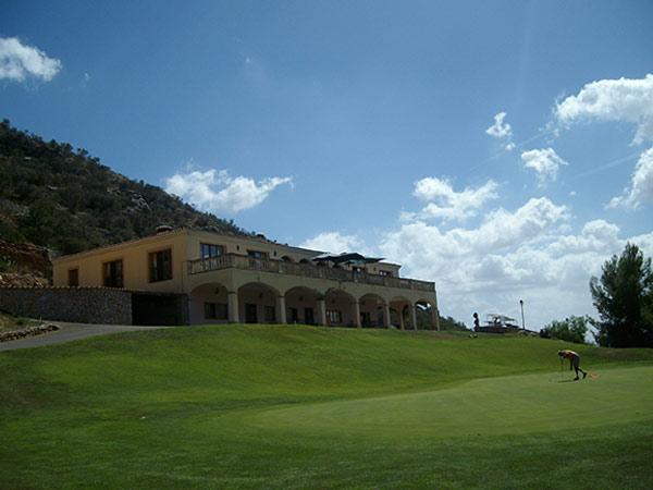 Das Clubhaus von Son Termens, Mallorca.