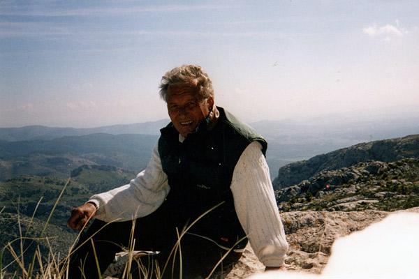 Der Autor Dr. Wolfgang Hierl auf dem Alarò