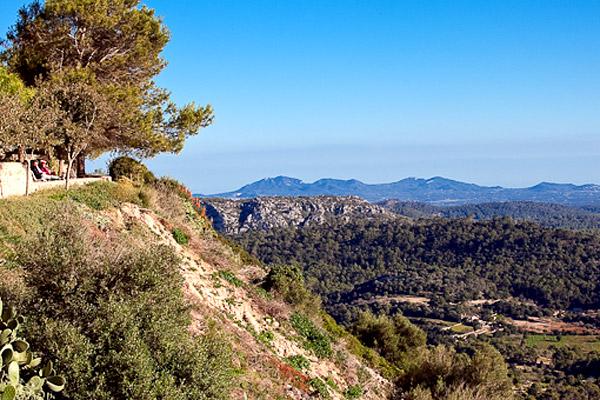 Gipfel des Bergs Randa auf Mallorca