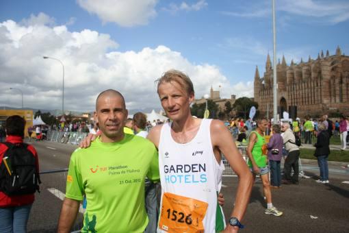 John van Eenennaam mit Porta Mallorquina Kollege Stephan Hoffmann auf dem TUI Marathon 2012