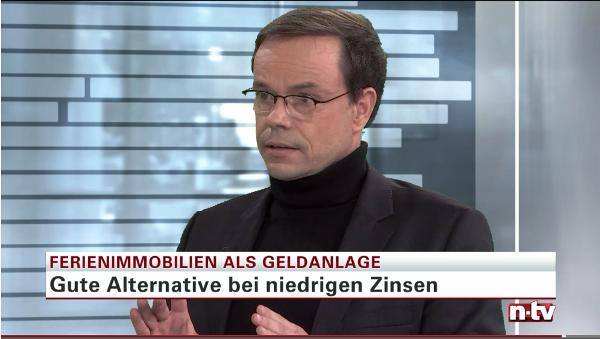 Finanzjournalist Andreas Kunze empfiehlt auf ntv den Porta Holiday Renditerechner. Quelle: Screenshot Telebörse ntv vom 16.11.2016 /15:40 Uhr
