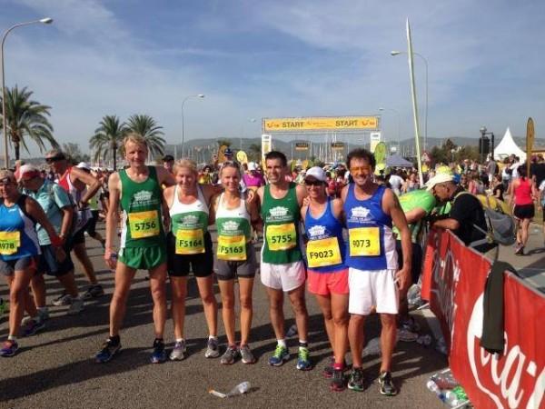 Das Porta Mallorquina und Porta Holiday Team beim TUI Marathon 2014.