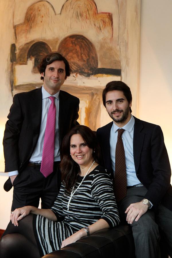 Daniel Olabarria Vaquero (links), Gabriel Buades Castella (rechts) und Francisca Buchner