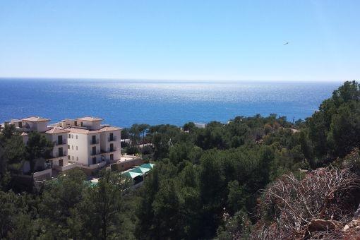 Doppelgrundstück in Puerto de Andratx mit atemberaubendem Meerblick