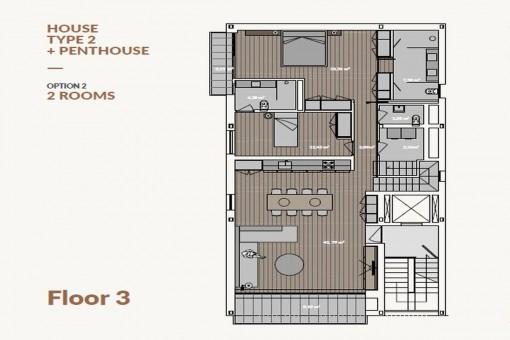 beeindruckendes luxus penthouse mit dachterrasse pool garage und meerblick in son armadans. Black Bedroom Furniture Sets. Home Design Ideas