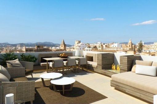 Luxuriöses Penthouse mit toller Dachterrasse in der Altstadt von Palma