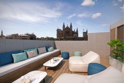 Exklusives Duplex-Penthaus mit 2 Terrassen und Blick auf Meer und Kathedrale in Palma - La Lonja
