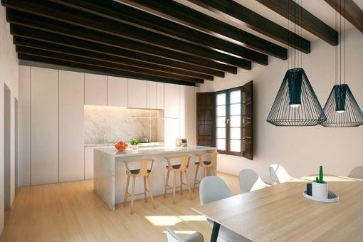 Moderner Wohn- und Essbereich