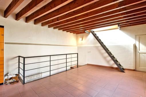 Die Wohnfläche verteilt sich über 3 Stockwerke