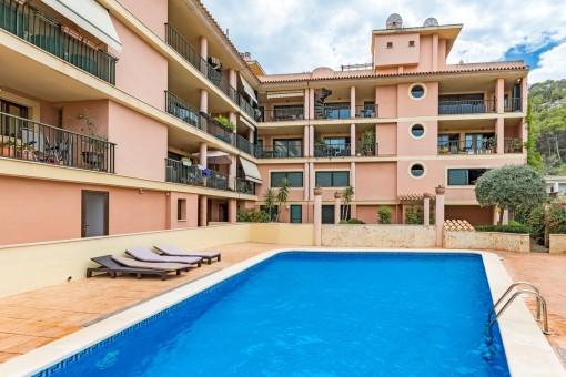 Praktisches Apartment am Rande des Ortskerns von Puerto Andratx