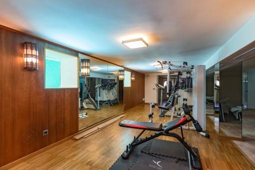 Bemerkenswerter Fitnessbereich
