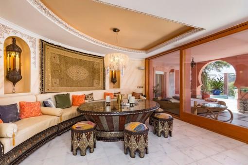 Entspannungsbereich im orientalischen Stil