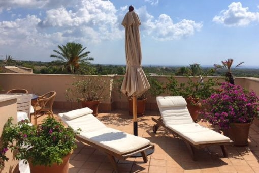 Wunderschönes Penthouse mit Dachterrasse mit Panorama-Meerblick in Calonge