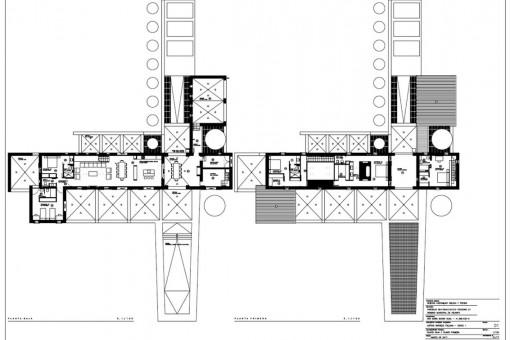 Bauzeichnung der Finca I
