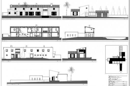 Bauzeichnung der Finca II
