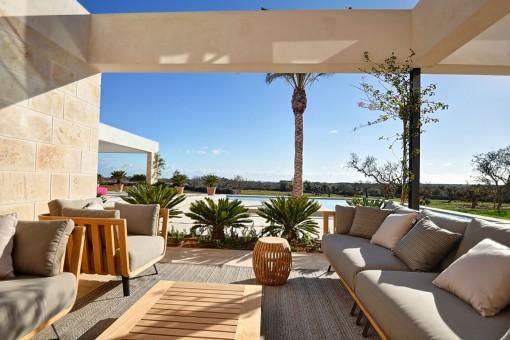 Herrlicher Loungebereich auf der Terrasse