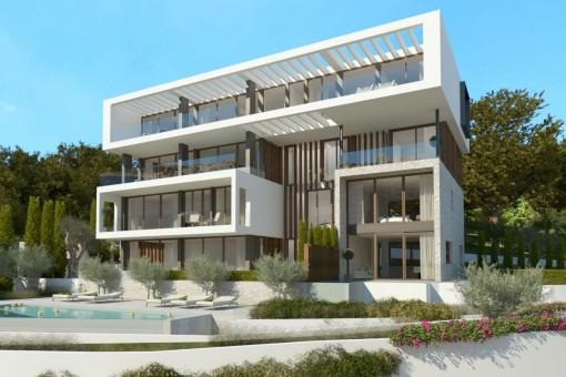 Die Neubau-Wohnanlage wird in einem sehr modernen Design entstehen
