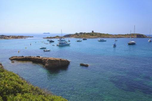 Alternative Ansicht des Strandlebens in Illetas
