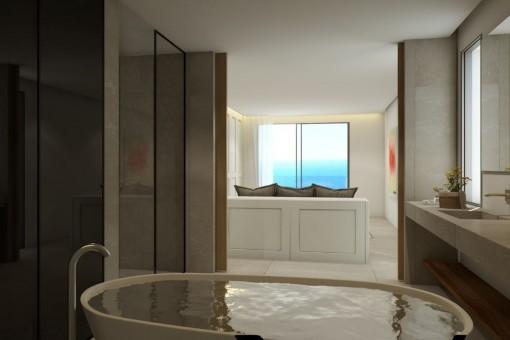Eines von 5 elgeganten Badezimmern