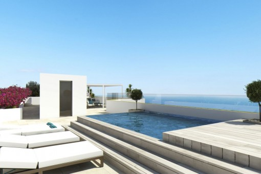 Das Projekt wird über eine fantastische Meerblickterrasse mit Pool verfügen