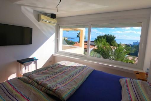 Fantastischer Meerblick aus diesem Schlafzimmer
