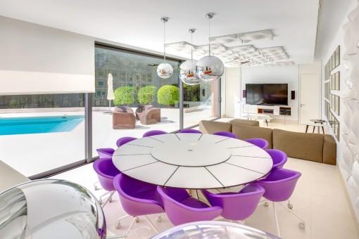 Alternative Ansicht des Loungebereiches