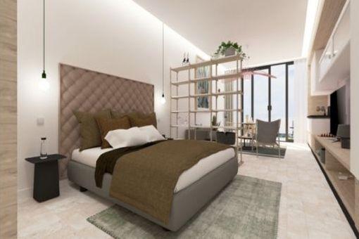 Mögliche Ansicht eines Schlafzimmers