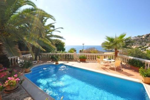 Wunderschöne Villa mit Terrasse und Pool in Port Andratx