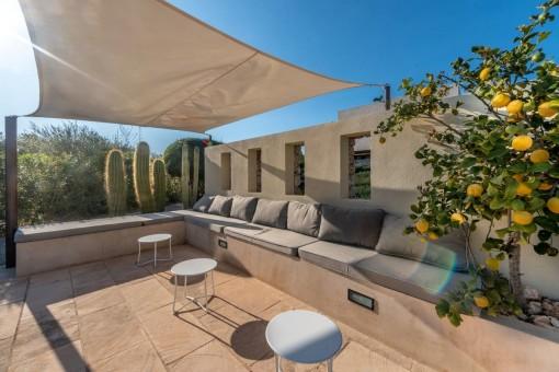 Mediterraner Loungebereich