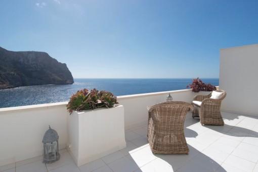 Atemberaubende Wohnung mit fantastischen Meerblick in Cala Llamp