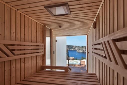 Attraktive Sauna