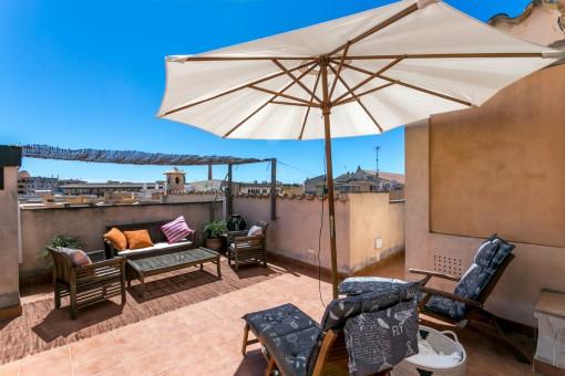 Hübsches Altstadt-Penthouse mit privater Dachterrasse in Palma