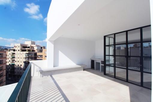 Schönes Penthouse über den Dächern von Son Armadams