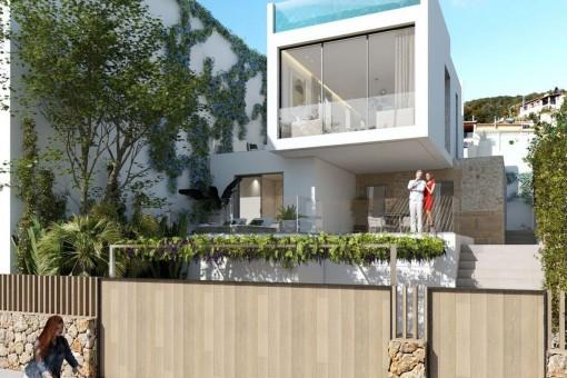 Design Stadthaus mit spektakulärem Meerblick und Pool in Genova