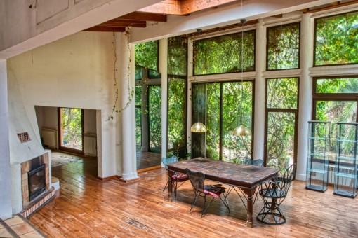Panoramafenster im Essbereich