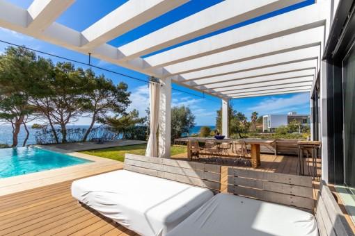 Moderne Villa in Vallgornera mit atemraubendem Blick auf die Insel Cabrera