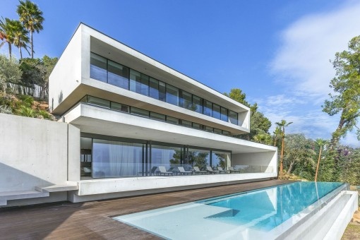 Außergewöhnliche Traum-Villa mit atemberaubendem Meerblick in Son Vida