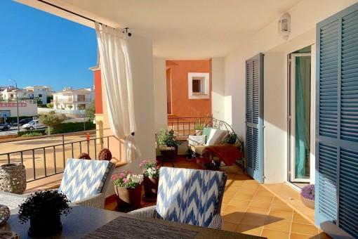 Zentral gelegene stilvolle Wohnung in gepflegter Wohnanlage von Portocolom