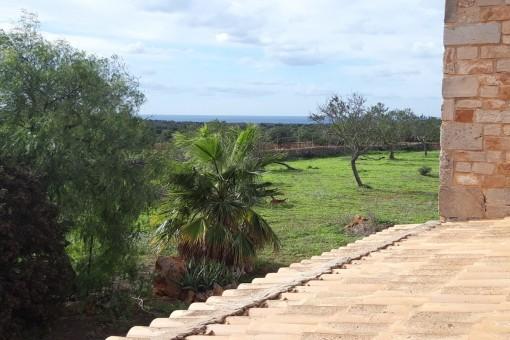 Charmanter Rohbau einer Finca bei Santanyí mit fantastischem Meerblick