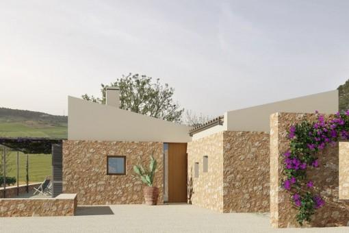 Finca Neubauprojekt - schlüsselfertig - erhöhte Lage mit schönem Blick auf die Landschaft in Sineu