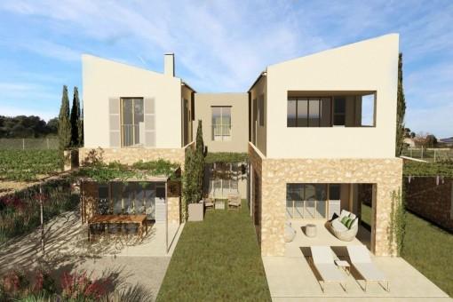 Terrassen und Außenansicht