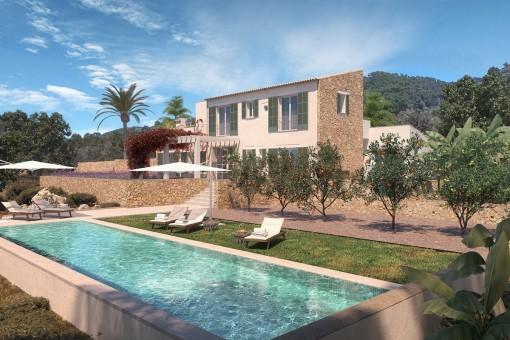 Mediterranes Landhaus mit Pool in Cas Concos