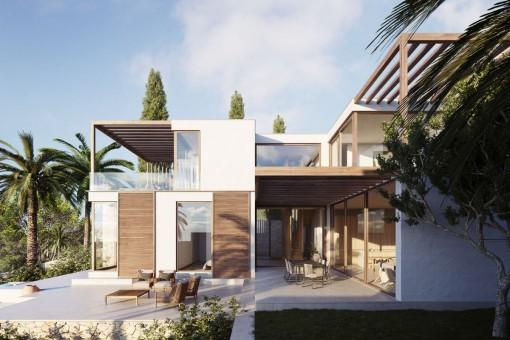 Exklusive Neubauvilla mit Tiefgaragenstellplatz für 4 Autos in Genova