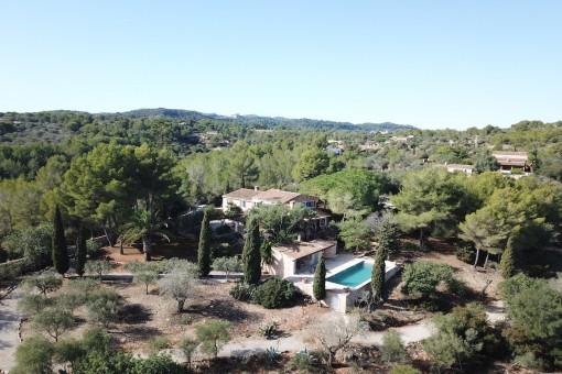 Charakteristisches Landhaus in idyllischer Umgebung mit Meerblick in Son Macia