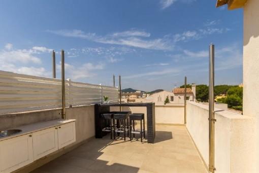 Private Dachterrasse